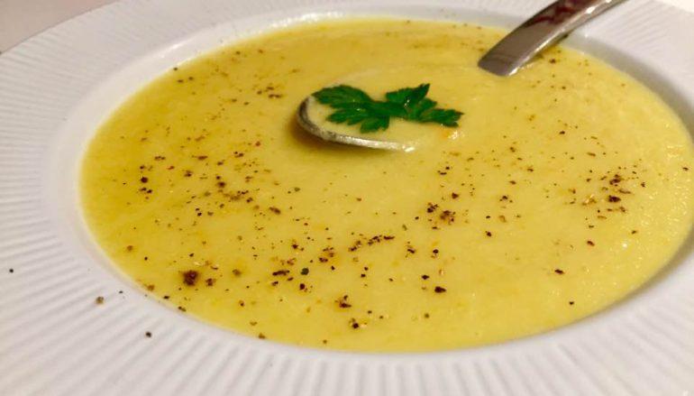 Crema de calabacín, pera y zanahoria