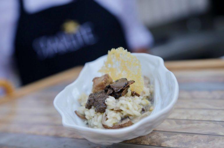 Receta Starlite de Risotto de setas, parmesano y trufas de trattoria La Contadina