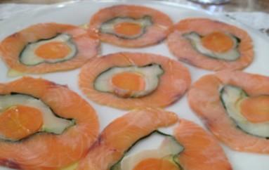 Carpaccio de Salmón, lubina y zanahorias