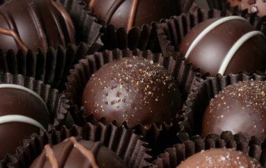 Bombones de chocolate vegetarianos