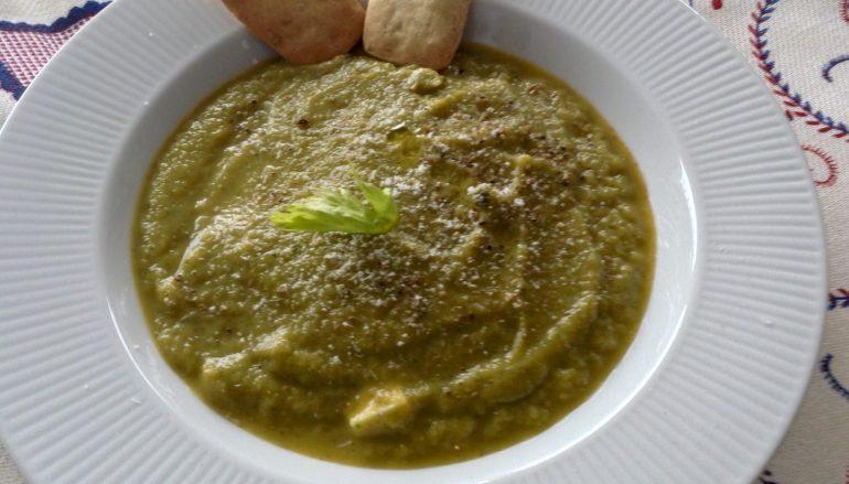 Crema de brócoli y calabacín light